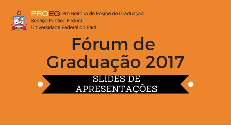 Fórum de Graduação 2017