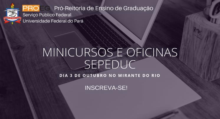 MINICURSOS E OFICINAS SEPEDUC