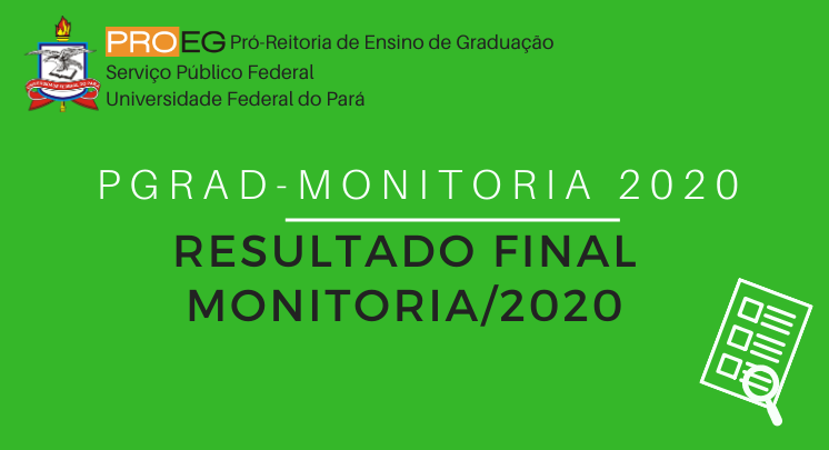 PGRAD MONITORIA 2020 - RESULTADO FINAL