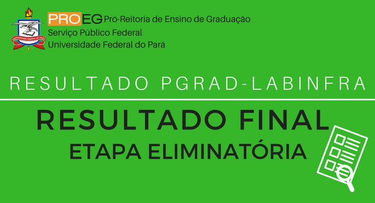 LABINFRA-2018 - RESULTADO FINAL - ETAPA ELIMINATÓRIA