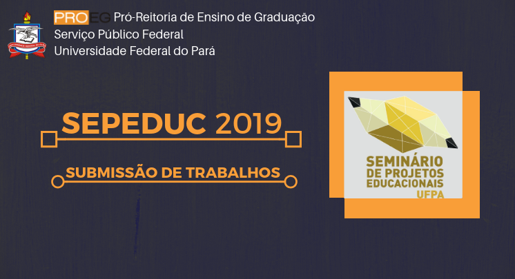 SEPEDUC 2019 - SUBMISSÃO DE TRABALHOS