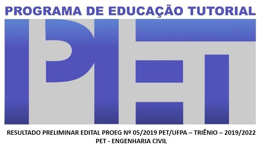 Edital PROEG Nº 5/2019 - Processo Seletivo Simplificado PET/UFPA - 2019/2022