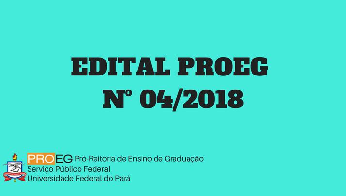 EDITAL PROEG Nº 04/2018 – PGRAD/MONITORIA