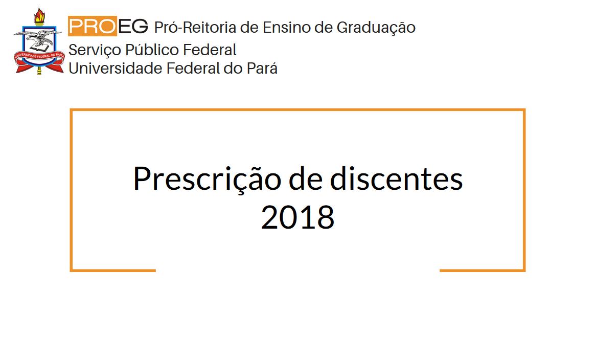 Prescrição de discentes 2018