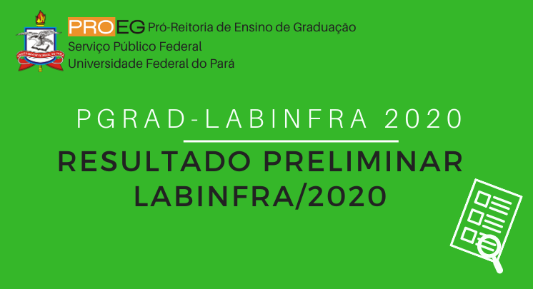 PGRAD LABINFRA 2020 - RESULTADO PRELIMINAR