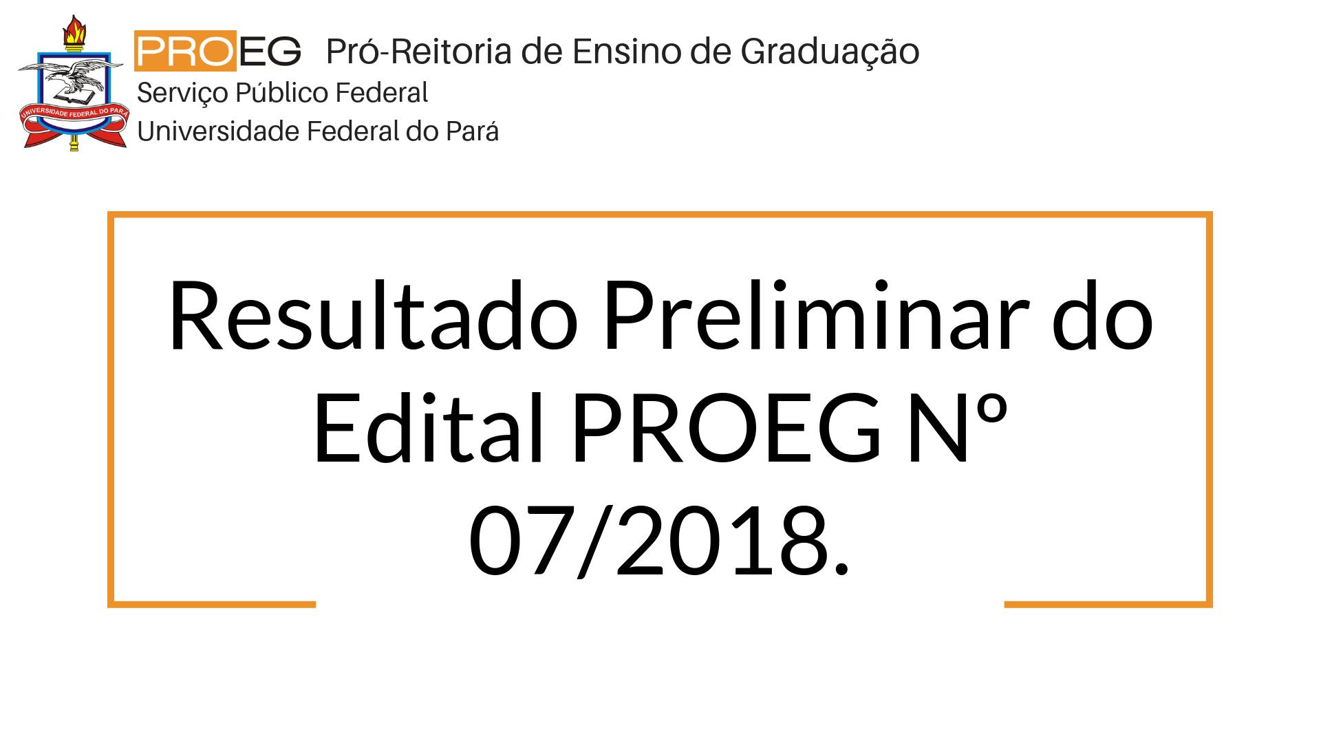 Resultado Preliminar  para Tutor do Programa de Educação Tutorial Grupo PET - ENGENHARIA SANITÁRIA E AMBIENTAL