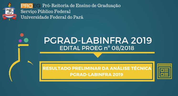 RESULTADO PRELIMINAR DA ANÁLISE TÉCNICA LABINFRA 2019
